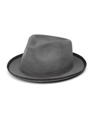 Super Duper Hats The Gambler Rabbit Fur Felt Hat Grey Anthracite