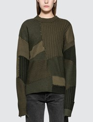 Helmut Lang Military Grunge Oversized Crew