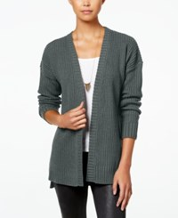 Hippie Rose Juniors' High Low Cardigan Med Heather