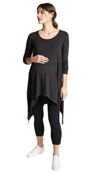 Ingrid And Isabel Handkerchief Tunic Dark Heather