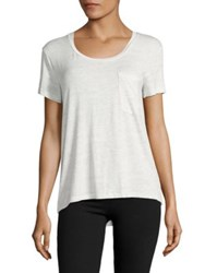 Roudelain Pocketed Hi Lo Sleep Tee White