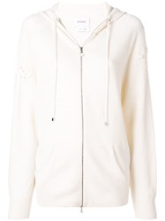 Barrie Cashmere Hoodie White