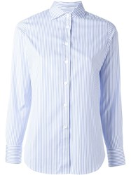 Lardini Striped Shirt Blue