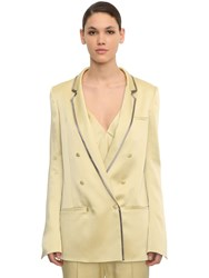 Haider Ackermann Double Breasted Viscose Blend Blazer Light Yellow
