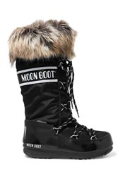 Moon Boot Monaco Shell And Rubber Snow Boots Black