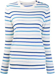 Chinti And Parker Striped Sweater White