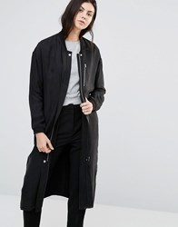 Minimum Seija Long Straight Coat Black