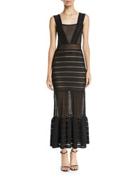 Nightcap Clothing The Martini Mixed Lace Sleeveless Gown Black