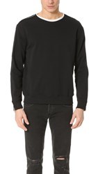3.1 Phillip Lim Roll Edge Crew Neck Sweatshirt With Zipper Soft Black
