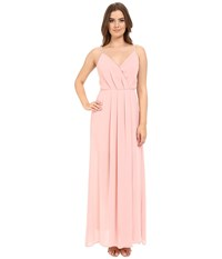 Adelyn Rae Spaghetti Strap V Front Maxi Dress Light Pink Women's Dress