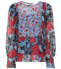 See By Chloe Silk Chiffon Printed Blouse Multicoloured