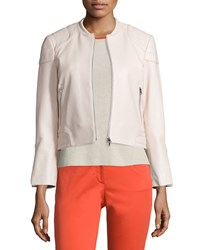 Rag And Bone Rag And Bone Astor Leather Zip Front Jacket Blush Size 4
