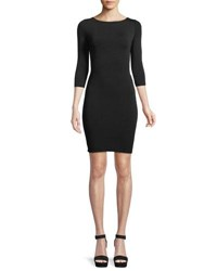 Bailey 44 Lace Up Back 3 4 Sleeve Body Con Cocktail Dress Black