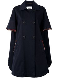 Bazar Deluxe Double Breasted Coat Blue