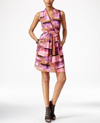 Bar Iii Sleeveless Printed Surplice Dress Only At Macy's Cathay Spice Combo