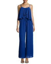Philosophy Sleeveless Drape Front Jumpsuit Original Cobalt