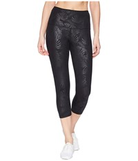 Lorna Jane Black Luxe Palm 7 8 Tights Black Luxe Palm Print Casual Pants