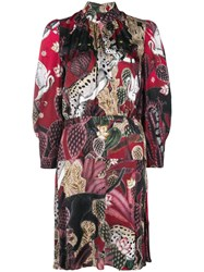 Just Cavalli Collage Print Dress Red