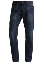 Tom Tailor Denim Atwood Straight Leg Jeans Stone Wash Denim Dark Blue Denim