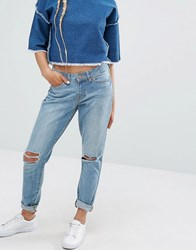 Noisy May Lucy Keyhole Jeans Mid Wash Blue