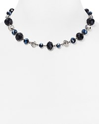 Carolee Woven Beaded Necklace 17 Black