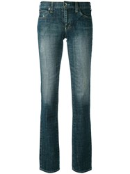 Armani Jeans Classic Tapered Women Cotton Spandex Elastane 25 Blue