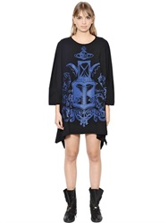 Vivienne Westwood Anglomania Elephant Crest Print Cotton Jersey Dress