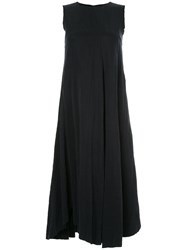 Song For The Mute Flared Twisted Dress Black