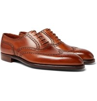 George Cleverley Reuben Leather Brogues Tan