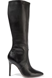 Halston Heritage Amanda Leather Knee Boots Black