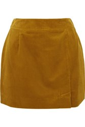 Bella Freud Alex Cotton Corduroy Mini Skirt Saffron