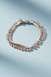 Anthropologie Rhinestone Wrap Bracelet Neutral
