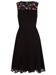 Yumi Pleated Party Dress With Sequins Black