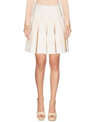Alaia Knee Length Skirts Ivory