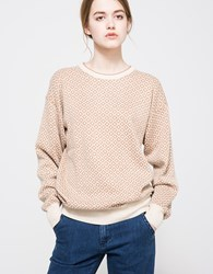 Callahan Aztec Boyfriend Sweater Tan
