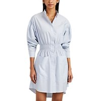 Cedric Charlier Striped Cotton End On End Shirtdress Blue Pat.