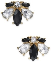 Charter Club Crystal Jet Stone Gold Tone Stud Earrings Only At Macy's