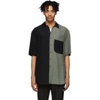 Song For The Mute Black And Green Oversized Shirt