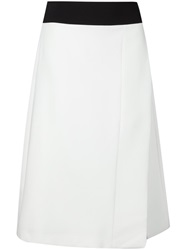 Narciso Rodriguez Front Slit Midi Skirt Red