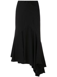 Simonetta Ravizza Tea Asymmetric Hem Skirt Black