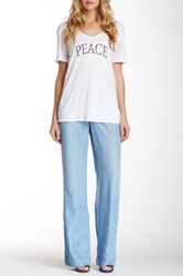 Cj By Cookie Johnson Pure Chambray Wide Legged Trouser Blue