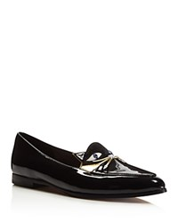Kate Spade New York Cecilia Patent Leather Cat Loafers Black