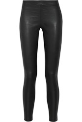 Vince Stretch Leather And Stretch Suede Leggings