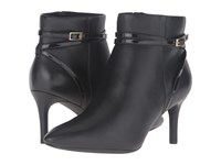 Rockport Total Motion 75Mm Strap Bootie Black Leather Women's Boots