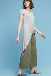 Anthropologie Kenzie Knotted Tunic Light Grey
