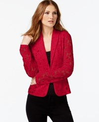 Inc International Concepts Lace Blazer Only At Macy's Glam Red