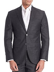 Saks Fifth Avenue Modern Woven Textured Sportcoat Black