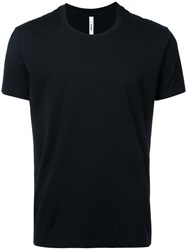 Attachment Round Neck T Shirt Men Cotton 2 Black