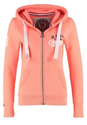 Superdry Super Track Tracksuit Top Phosphorescent Coral Marl Orange