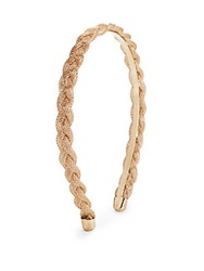 Natasha Braided Metallic Mesh Headband Goldtone